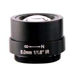 8 mm Lens, 1/1.8 in., f1.8, CS-mount, Fixed Iris