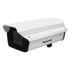 10 in. Outdoor Bullet Style Housing with Heater/Blower, Includes Wall Mounting Bracket