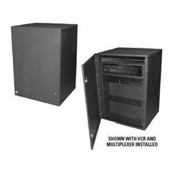 Verrouiller la boîte, boîte de sécurité Montage mur pour VCR ou multiplexeur. Accepte les EIE 19 dans. Montables en rack multiplexeur et inclut Rack amovible VCR, Documentation du plateau et deux tablettes de rangement de ruban de magnétoscope