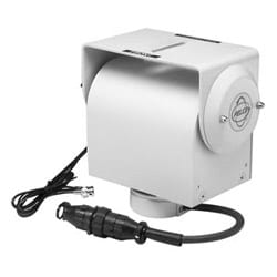 Heavy-duty Pan/Tilt, Prewired for Zoom Lens, Camera Power, Enclosure Power, Video. 360-degree Pan Rotation. Preset Positioning. upright or Inverted Operation. Maximum Load 100 lb. 120 V AC