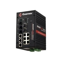Géré par commutateur Ethernet industriel, sept ports Fast Ethernet et trois ports combo Gigabit Ethernet, étendue de températures de fonctionnement