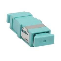 LazrSPEED SC Simplex Flangeless Adapter, Aqua, Single Pack