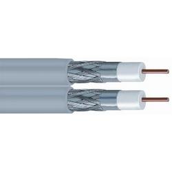 Veste tresse Non-Plenum câble Coaxial, gris de double Type RG-6 60 %, bobine ft 1000 (305 m)