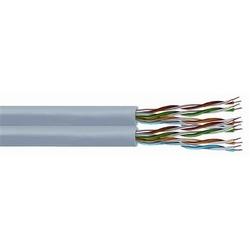 DataPipe 5E55D catégorie 5e U/UTP Câble double, plénum, veste grise, comte de 8 paires, longueur de 1000 pieds de 305 m, enrouleur