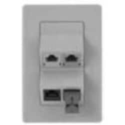 Panels - MDVO Entry Faceplate, 4 Port, Single Gang, Angled White