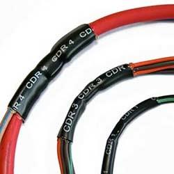 Paroi mince polyoléfine réticulé ligné adhésif thermorétractable tube; Morceau coupé 40MM; 6MM de diamètre; Noir