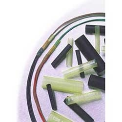 """Polyoléfine réticulé ligné adhésif thermorétractable, tube; Morceau coupé 50MM; 0,24"""" diamètre; Noir"""