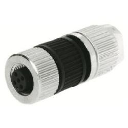 Harax Sensor Female: Circular Connector w. Harax M12 L 4 F