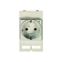 Han Port: Plug socket module Germany w. LED (VDE)