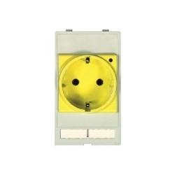 Han Port: Plug socket module Germany yellow (VDE)
