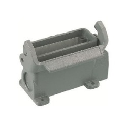 Han A standard housing, surface mounting size 16 A, HC 1 side entry M25