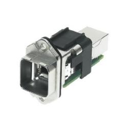 Han PushPull : Han PushPull RJ45 métal WDF patch cable