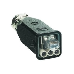 Hybrid Data Copper: Han 3A RJ45 Hybrid Plug AC