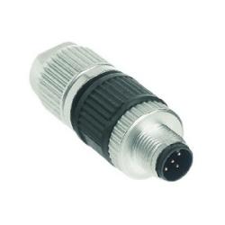 Harax M-12 Sensor Male Circular connector, 5 poles, A-coded, 24-22 AWG