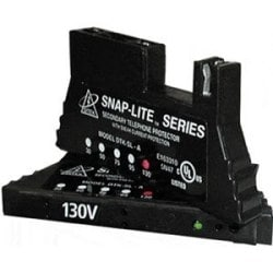 66 Block Snap On Protection for analog circuits - 130V, Diagnostic LED, 150mA self resettable fuse