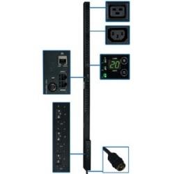 14,5KW 3-phase surveillé PDU, 200/208/240V TAA, cordon de 10 pi, points de vente (42 C13 & 6 C19), 0U Vertical, Hubbell 50 a CS8365C
