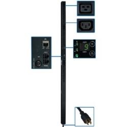 5,7kW 3 phases PDU surveillé, 208V points de vente (30 C13 & 6 C19), L15 - 20P, cordon de 10 pi, 0U Vertical