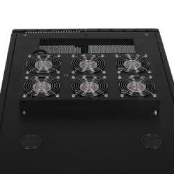SmartRack Roof-Mounted Fan Panel - 6-120V high-performance fans; 630 CFM, 5-15P plug