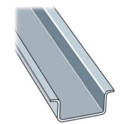 DIN Rail Aluminum.7.5 X 35mm, Symmetrical, Non-Slotted TS 35, Length: 1m