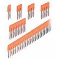 Jumper Bar, 10-Poles, 41 A, Polyamide, Orange, Contact Current Rating (Max.): 41 A, Screwless, 6 mm