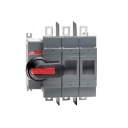 Fusible disconnect switch OS100GJ03 including protected tunnel terminals (IP20). Without handle and shaft.