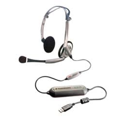 Stereo Foldable USB headset recommended for laptop users.