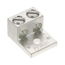 """Aluminium mécanique Lug, trou 1, Canon 2 #6 AWG, 350 kcmil, 1/2""""(12,7 mm) Stud, 6 pièces"""