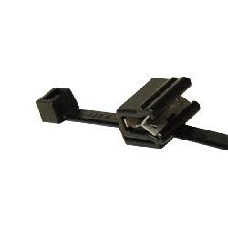 Cable Tie&Edge Clip, EC5A Pan Thickness .04-.12, PA66; PA66HIRHS, Black, 100/pkg