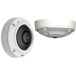 M3007-PV Compact Indoor Fixed Mini Dome Camera, Vandal-resistant Casing, 360º/180º Panoramic Views, Quad and Digital PTZ Views. Up to 5MP at 12 fps