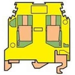 M 6/8.P terminal block for ground wire, same size as M 6/8 terminal block, green-yellow.