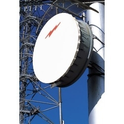 3.0 m | 10 ft High Performance Parabolic Shielded Antenna, single-polarized, 7.425-7.900 GHz, PBR84, gray antenna, standard white radome with flash, standard pack - one-piece reflector
