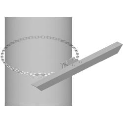 Light Duty Stiff Arm Mount, one 8 ft chain