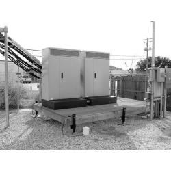 Equipment Platform, 10 ft x 15 ft, base with six adjustable legs