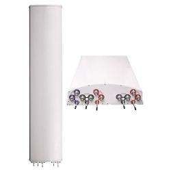 DualPol Multi-band 10 Port Teletilt Antenna, 2 x 824-960 and 3 x 1710-2180 MHz, 65 horizontal beamwidth, RET compatible
