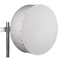 1.0 m | 3 ft ValuLine High Performance Low Profile Antenna, dual-polarized, 7.10-8.500 GHz, PBR84, white antenna, polymer white radome without flash, standard pack - one-piece reflector