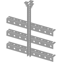 Trapeze Kit, triple tee, 12 in wide, three rungs
