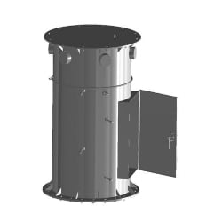 Stackable Pod Mount Assembly, 3-sector platform, 14 ft face, twelve 2-3/8 in OD x 96 in plain end pipes included