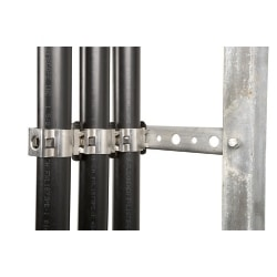SnapStak Hanger for 1/2 in coaxial cable, quadruple stack capability, includes reinforcement bar