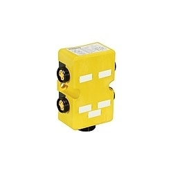 Mini Distribution Box, 4-ports, side-entry, 7/8 inch sockets, 5-poles with integrated on-board 1 1/8 inch 10-pole quick-disconnect - home run connector: RSRK 1001M-699/...F.