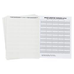 Vierges, imprimables polyester étiquettes pour Imprimantes Laser.