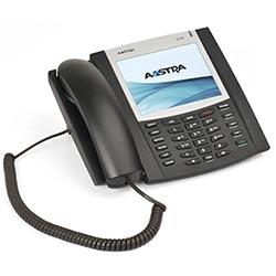 Téléphone IP - noir, mettant en vedette plusieurs lignes