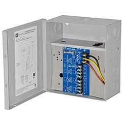 CCTV Power Supply, 4 PTC Outputs, 24/28VAC @ 12.5A, 115VAC, BC100M Enclosure