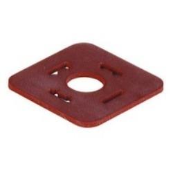 Rouge VMQ GDM 3-17; Plat joint pour câble prise GDM, matériel : VMQ (silicone), plage de température :-40C à + 125c