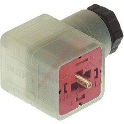 Rectangular Connector, GDM 2011 J 24V LED 1N4007, Valve, Type A, 2C + Ground, 5-10mm (UL), Clear Housing