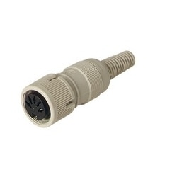 MAK 3100 S grey; Socket with locking screw solder joint, 3 contacts, female, DIN 41 524, 4A 34V AC/DC