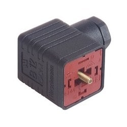 GDM 3009 J black; Cable Socket with central screw M 3 x 35, 3 contacts + PE, PG9, Type A, DIN EN 175 301-803-A