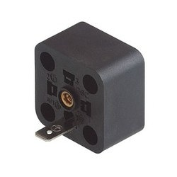 GSC 300 black; Appliance connector with retaining nut, PE contact, 2 screws M 3 x 10 and 1 screw M 3 x 5, without contacts, Number of contacts: 2 + PE / 3 + PE, DIN EN 175 301-803-A