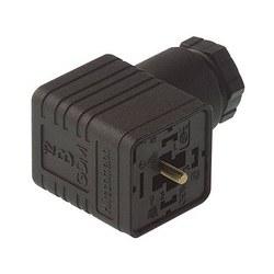 GDM 3011 noir; Prise de câble avec vis centrale M 3 x 35, 3 contacts + PE, PG11, Type A, DIN EN 175 301-803-A