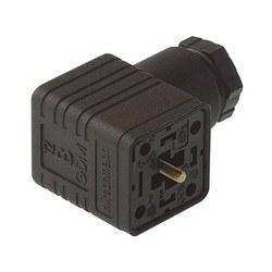 GDMC 3011 noir; Prise de câble avec vis centrale M 3 x 35 et 4 crimp contacts RBC 630, 2 + PE / 3 + PE PG9/PG11, Type A, DIN EN 175 301-803-A