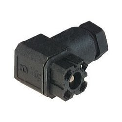 G 30 W 3 F black; Cable Socket with PG 7 Cable gland and solder contacts, 3 contacts + PE, forked spring, DIN VDE 0627 / IEC 61984, 6A, 250V AC/DC
